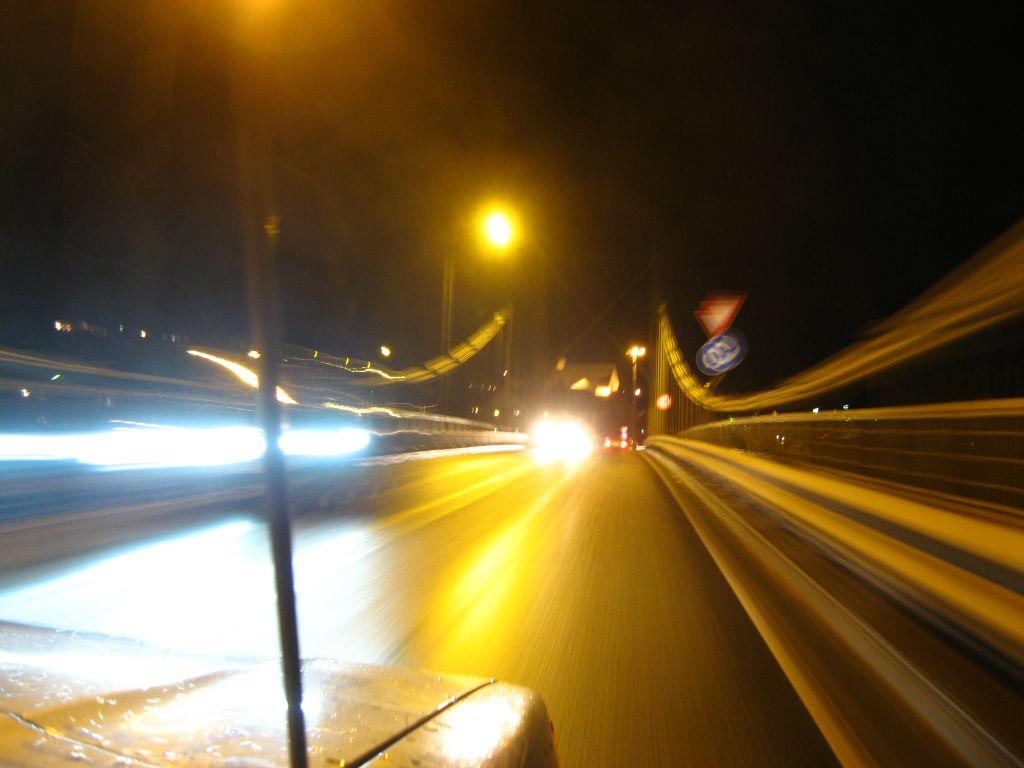 Durch die lange nordische Nacht Richtung Schweden.